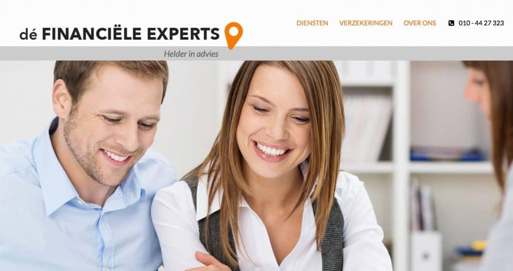 Wordpress website voor de Financiele Experts